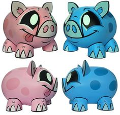 awesome piggies!   Pinned by Nicole Mitchell