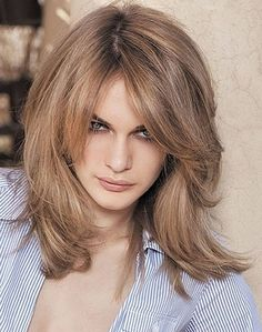 Shoulder Length Hairstyles With Side Bangs And Layers
