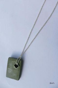 cement pendant, handmade, concrete jewellery