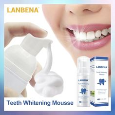 LANBENA™ TEETH WHITENING MOUSSE. – lanbena.official Teeth Whitening Uk, Whitening Kit, Teeth Stain Remover, Teeth Bleaching, Stained Teeth, Teeth Care, White Teeth, Oral Hygiene, Deep