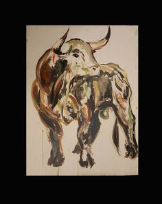 Bull - 2015. oil,canvas, 60x80