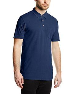 ESPRIT Herren Poloshirt Piqué, Gr. Medium, Blau (Royal Blue)