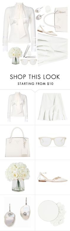 """""""Cream"""" by sunnydays4everkh ❤ liked on Polyvore featuring Ermanno Scervino, Proenza Schouler, STELLA McCARTNEY, Sarah Flint, Stephanie Deydier, ittse and Chantecaille"""