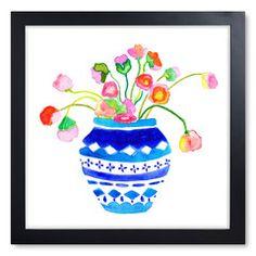 Ginger Jar Bouquet Print IV
