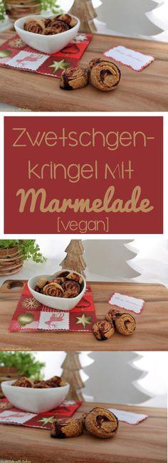 Ihr sucht nach leckeren Plätzchenrezepten? Wie wäre es mit veganen Zwetschgenkringel mit Marmelade? #zwetschge #marmelade #kringel #weihnachten #advent #plätzchen #rezept #schoko #pudding #winter #candbfood #candbwithandrea #foodblog #blog