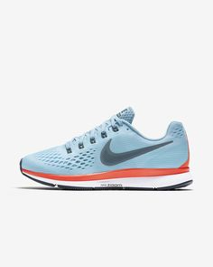 Nike Air Zoom Pegasus 34 in Ice Blue/Bright Crimson/White/Blue Fox Mens Nike Air, Nike Men, Nike Air Zoom Pegasus, Running Shoes For Men, Slippers, Boots, Fashion, Sneakers Nike, Modeling