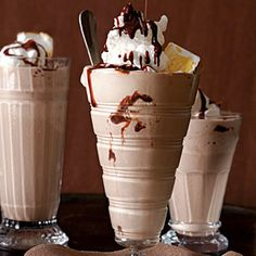 Mississippi Mudslides | For a dramatic and delicious effect, use a small kitchen torch to brown the marshmallows topping your  mudslides.