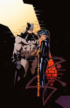 Batman and Catwoman by Chris Bachalo.