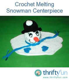This craft is a combination of crochet, fiberfill, flex foam, and glitter. I use at Christmas as a centerpiece. via thriftyfun.com