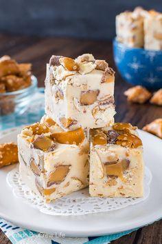 Caramel Peanut Butter Pretzel Fudge recipe