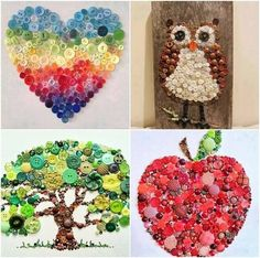 These Button Wall Art ideas are so easy to create and they'll look terrific decorating your home!
