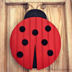 The Wood Connection | Ladybug Door Hang | $12.95