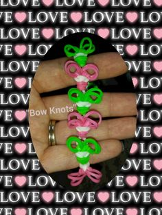 "My New ""Bow Knots"" Rainbow Loom Bracelet/ How To Tutorial"