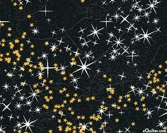 christmas past - starry december night - black