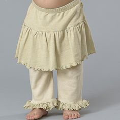 https://www.cityblis.com/4005/item/6985 | Girl's Pants w/Skirt - $28 by B Nature |  Super soft organic cotton pants that are comfy and stylish.  Gotta love 'em.   STYLE 175  100% Organic rib 1x1 cotton and pointel. Available in sizes 6-24 months. Lightweight for hot Summer days. Designed for maximum comfort and fun. Ruffled skirt and bottom of leg adds sweet style. ... | #Pants