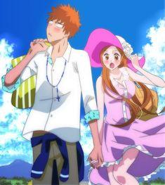 Bleach// Inoue Orihime and Ichigo Kurosaki Bleach Fanart, Bleach Manga, Ichigo E Orihime, Best Anime Couples, Bleach Couples, Anime Comics, Chibi, Character Design, Fan Art