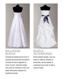 DB Bustle Options Wedding Gown Bustle, Wedding Gowns, Wedding Mood Board, Davids Bridal, Wedding Planning, Wedding Ideas, Wedding Bells, Diy Fashion, Style Guides