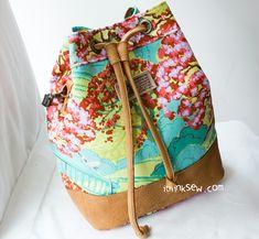 Natalie Bucket Bag PDF Pattern (#817) - ithinksew.com
