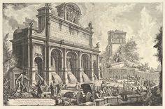 Giovanni Battista Piranesi   View of the Fountainhead of the Acqua Paola on Monte Aureo, from Vedute di Roma (Roman Views)   The Met