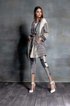 #danieladallavalle #collection #ss16 #elisacavaletti #jacket #tshirt #trousers #belt #beltloop #loop #grey #white #print #fantasy #stripes #black