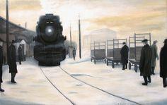 """""""Arriving at Union"""".  Toronto, circa 1929.  www.daverheaume.com"""