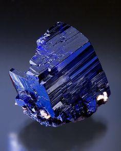 Azurite  Tsumeb Mine, Tsumeb  Namibia  Thumbnail: 1.9 x 2.2 x 1.5 cm