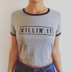 KILLIN' IT CROPPED TOP CUTE NEW TOP. Size small/medium. Cropped. NO TRADES OFFERS WELCOME NYC BOUTIQUE Tops Crop Tops
