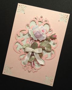 Shabby-Sweet and Fancy All Occasion Card with Elegant Floral Anna Griffin Papers