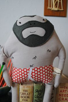Grizzly Geoff Plush by Stuffed Nonsense Handmade Curios and Creatures at Folksy.com