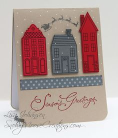 Snowy Moose Creations Stampin Up Holiday Home