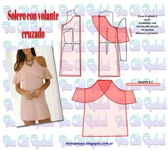 KiVita MoYo: Solero with crossed steering wheel.Sew tshirt knit t-shirts diy open Shoulder . Despejar el escote a unos 2 cm del Dress Sewing Patterns, Blouse Patterns, Clothing Patterns, Diy Clothing, Sewing Clothes, Fashion Sewing, Diy Fashion, Creation Couture, Diy Dress