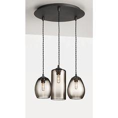 Swift Hand-blown Glass Pendant Lights, Group of Three or Five - Modern Pendants - Modern Lighting - Room & Board