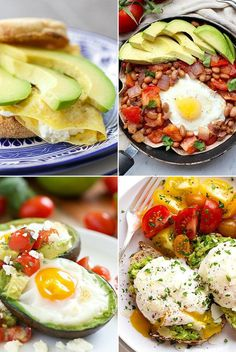 Healthy Breakfast : There are no words that could possibly describe the great combo that is avocados... #Breakfast