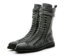 ANN DEMEULEMEESTER lace up boots... my holy grail