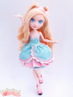 Cupcake Ever After High custom repaint ooak doll by Dollightful
