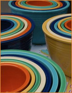 Collections: Fiesta Dinnerware! I would absolutely LOVE to have a mixed set of Fiesta mixing bowls!