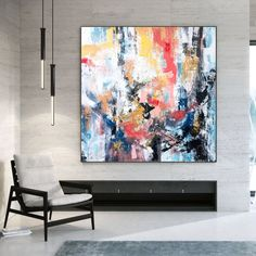 Hand-Painted Color Block Abstract Oil Canvas Painting   Etsy Modern Wall Art, Modern Decor, Abstract Canvas Art, Large Canvas Wall Art, Acrylic Colors, Paint Colors, Original Paintings, Original Art, Oversized Wall Art