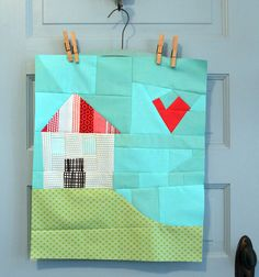 Improv for Valentine's Day Mini *love* #maureencracknellhandmade House Quilt Block, House Quilts, Quilt Blocks, Paper Piecing, Butterfly Quilt, Creative Textiles, Quilted Wall Hangings, Quilt Patterns Free, Mini Quilts