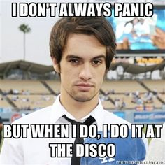 I'm sure that this is a kind of meme joke, but for me it's sadly true: a lot of people+ alcohol+ smoke+ really bad music= panic attack !