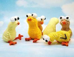 Chickies Amigurumi Easter Chick Plush Toy Knitting by cheezombie, $2.99