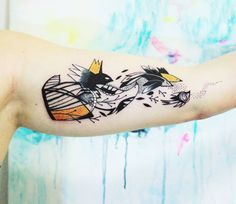Abstract Animal Tattoo by Bumpkin Tattoo​ | Tattoo No. 13687