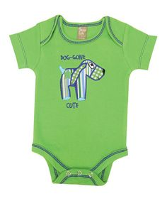 Take a look at this Lime Green Dog-Gone Cute Bodysuit - Infant by Blow-Out on @zulily today!