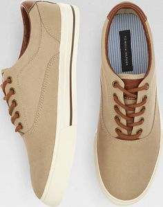 pretty nice c4b55 b4de8 Buy a Tommy Hilfiger Paulie Tan Canvas Sneakers and other Sneakers at Men s  Wearhouse.