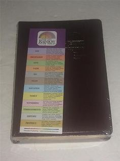 Niv Rainbow Study Bible Color Coded 12 Themes Bold Line New!