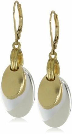 "Napier ""Classics"" Two-Tone Drop Earrings Napier. $16.00. Made in CN. Made in China"