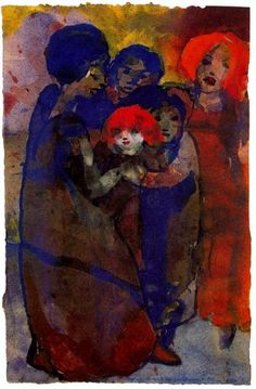 Emil Nolde - Group with Children