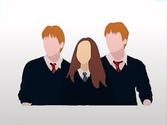 Harry Potter Canvas, Harry Potter Fan Art, Harry Potter Hogwarts, Familia Weasley, Harry Potter Stickers, Phelps Twins, Weasley Twins, Drawing Reference Poses, Profile Pics