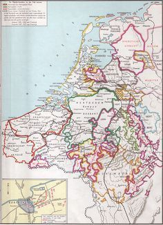nederlanden 14e eeuw European Map, European History, Early World Maps, Holland Map, Netherlands Map, Hellenistic Period, Classical Antiquity, Country Maps, Medieval Life