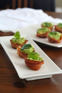 """Mini Bacon Guacamole Cups – Guest Post from """"All Day I Dream About Food"""" 