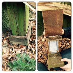 Here's a creative idea!  Put a fake base around a post and hide the geocache log sheet inside.